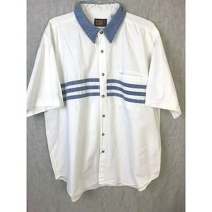 Faded Glory Vintage Button Front  White Denim
